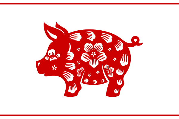 paper cutout pig design