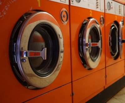 Orange washing machines